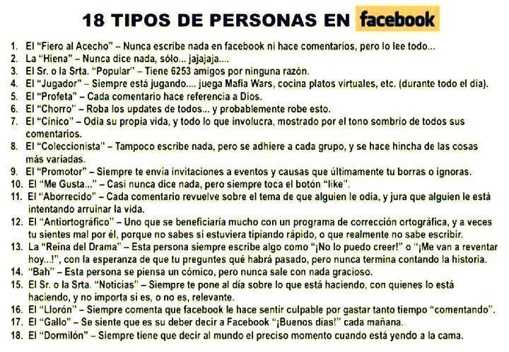 18 tipos de personas en facebook nuevamente es for Tipos de persas